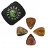 Timber Tones Grip Mixed Tin of 4 Guitar Picks